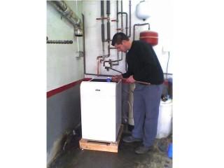 Caldera Ferroli Silent RK-35 para calefacción y agua caliente sanitaria. Atmosférica gasoil 27KW, para casa particular de 180m2