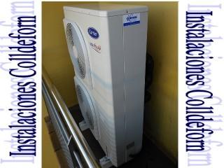 Carrier inverter AQUA SNAP 15,5KW para frío y calor en fancolis de conductos en casa de 180m2
