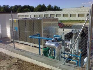 Instalación de equipos de climatización con bombeo y 180KW