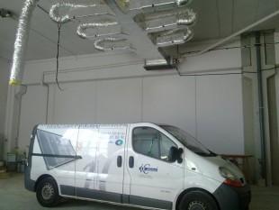 instalación aire acondicionado de nave industrial de 1.500m2