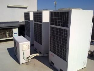 Instalación VRV LG unidades exteriores para oficinas
